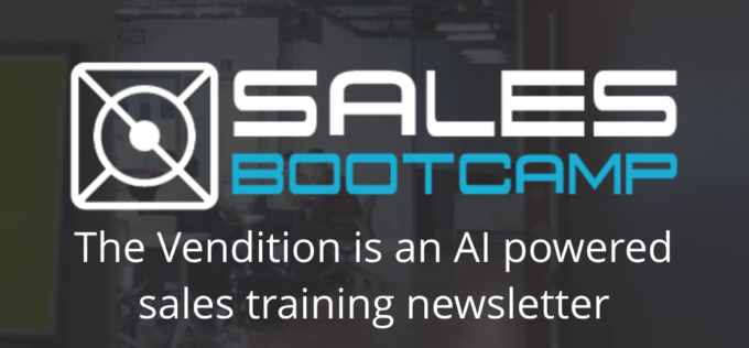 The Vendition By Sales Bootcamp — AI Powered Personalized Sales Training Right To Your Inbox