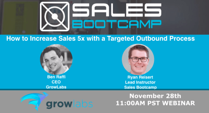 Free Webinar! How To Increase Sales 5X With A Targeted Outbound Process