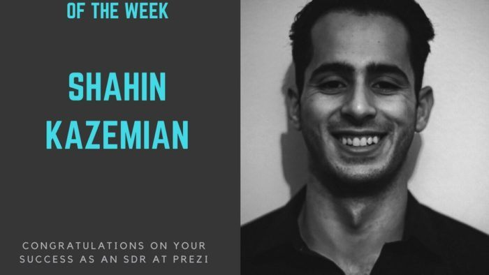 sales bootcamp fellow of the week